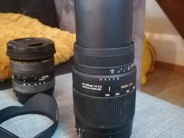 Vente: Téléobjectif : 70-300 mm F4-5,6 monture canon
